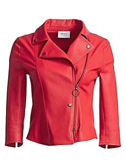 9f4ad87abc3 Akris punto. Leather Biker Jacket