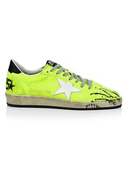 QUICK VIEW. Golden Goose Deluxe Brand. Men s Lime Ball Star Leather Sneakers d0d79443743