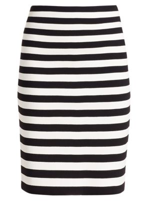 Akris Punto Striped Pencil Skirt