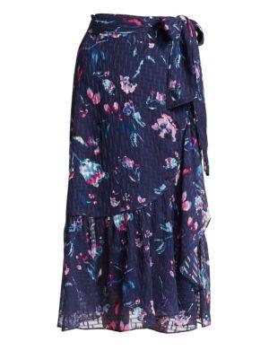 Tanya Taylor Angelina Floral Wrap Skirt