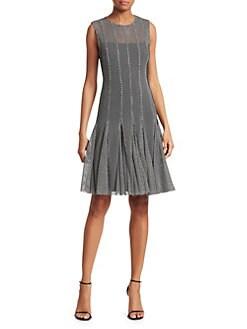 1f42cdcb885 Monochrome Mesh Dress BLACK CREAM · Product image