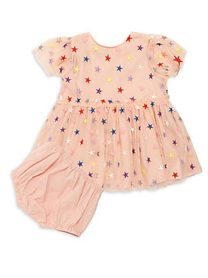 ae230afb4 Stella McCartney Kids - Little Girl's Two-Piece Multicolor Embroidered  Stars Tulle Dress & Bloomers