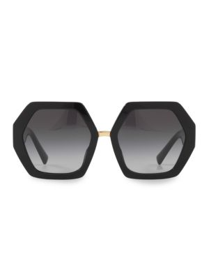 Valentino 57mm Geometric Sunglasses