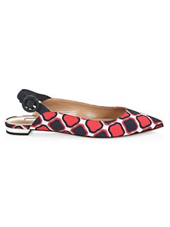 47db991135e QUICK VIEW. Aquazzura. Yale Graphic Print Point Toe Flats