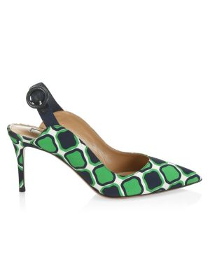 Yale Graphic Print Slingbacks by Aquazzura