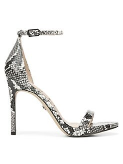 8b5a5cc7dce46 QUICK VIEW. Sam Edelman. Ariella Leather Snake-Print Stiletto Sandals