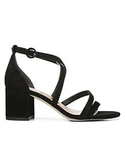 148aa1794dd0 Sam Edelman. Stacie Strappy Suede Block Heel Sandals