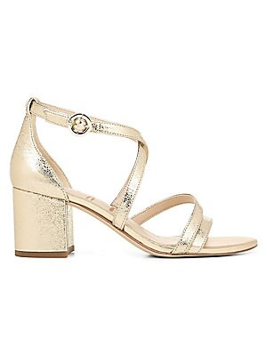 0bbad2ac844 Kate Spade New York - Wynne Strappy Metallic Block Heel Sandals ...