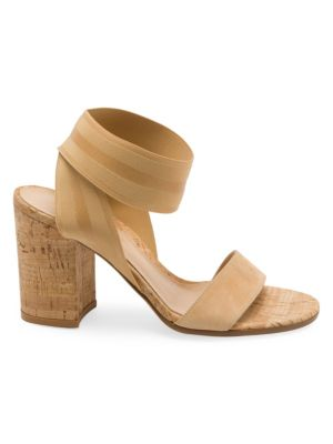 Cork Block Heel Sandals by Gianvito Rossi