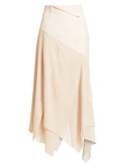 3aa2541c4 Akris. Georgette Silk Asymmetric Maxi Skirt