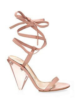 deb7d9b4183 Gianvito Rossi. Leather Ankle Wrap Sandals
