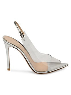 615b16e9fc Product image. QUICK VIEW. Gianvito Rossi. Transparent Peep Toe Slingback  Sandals