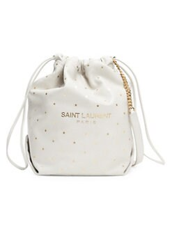 Saint Laurent Teddy Print Leather Bucket Bag CREAM. QUICK VIEW. Product  image 6c92b9e869