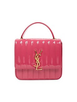 Medium Vicky Matelassé Patent Leather Bag ROSE. QUICK VIEW. Product image.  QUICK VIEW. Saint Laurent 07b63c661b215