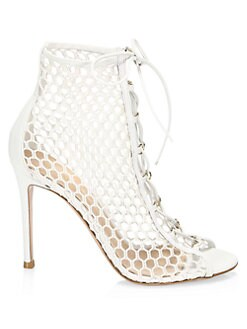 6ffd579ed62 Gianvito Rossi. Heeled Lace-Up Leather Booties