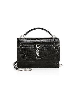 62030035add Saint Laurent - Sunset Crocodile-Embossed Leather Crossbody Bag - saks.com