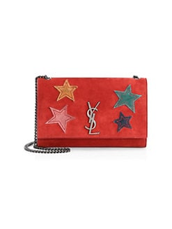 QUICK VIEW. Saint Laurent. Medium Kate Suede Star Patchwork Bag a42345039aa51