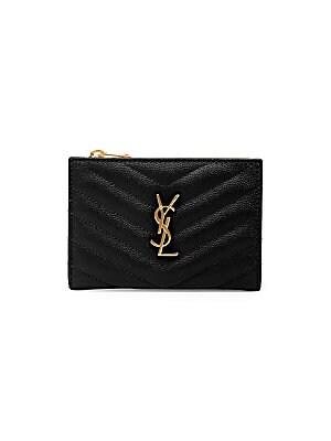 Saint Laurent - Monogram Matelassé Leather Card Case - saks.com 87883ecf4811a