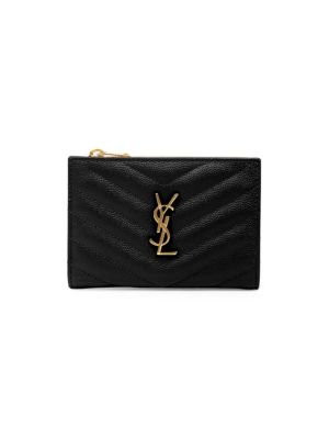 Quilted Leather Card Case by Saint Laurent