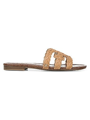 21329fd608a0 Sam Edelman - Glen Studded Leather Slides - saks.com