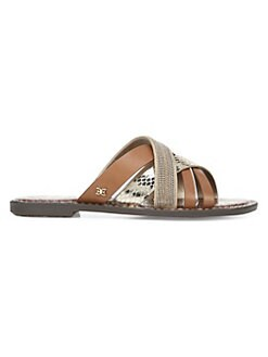 8a2475fbaf6cbd Sam Edelman. Glennia Leather Slides