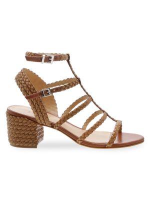 Schutz Sandals Rosalia Braided Leather Gladiator Sandals