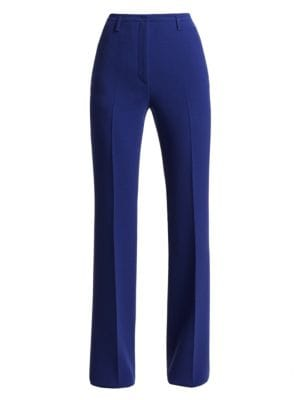 Akris Farrah Wool Wide Leg Trousers