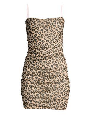 Sandy Liang Lily Leopard Slip Dress