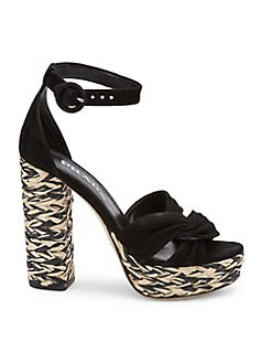 3802a53275a QUICK VIEW. Prada. Woven Raffia Knotted Platform Sandals