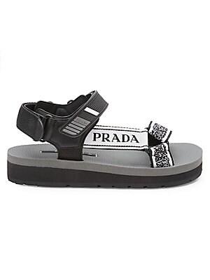 Buckle Sandals Platform Nastro Jacquard Prada 4R3LqAcj5