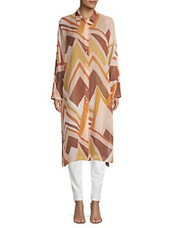 56d4ed2f0724af Lafayette 148 New York. Kyrie Duster Button-Down Shirt