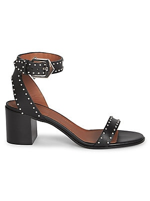 a2320bfedec2 Givenchy - Studded Leather Ankle-Strap Sandals