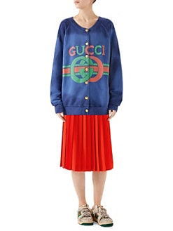 a60d820790a Sweatshirts. Gucci - Heavy Felted Button-Front Jersey Sweatshirt