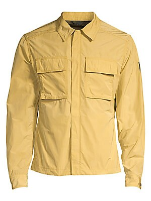 Image of An transitional staple, this essential zip-up jacket is water-repellent with large chest pockets for storage. Spread collar Long sleeves Button cuffs Concealed zip front Chest flap patch pockets Waist slip pockets Polyester Machine wash Imported SIZE & FI