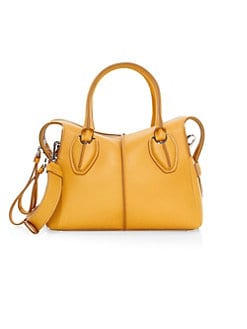 fb87213ad9d11 QUICK VIEW. Tod's. Mini Bauletto Leather Satchel