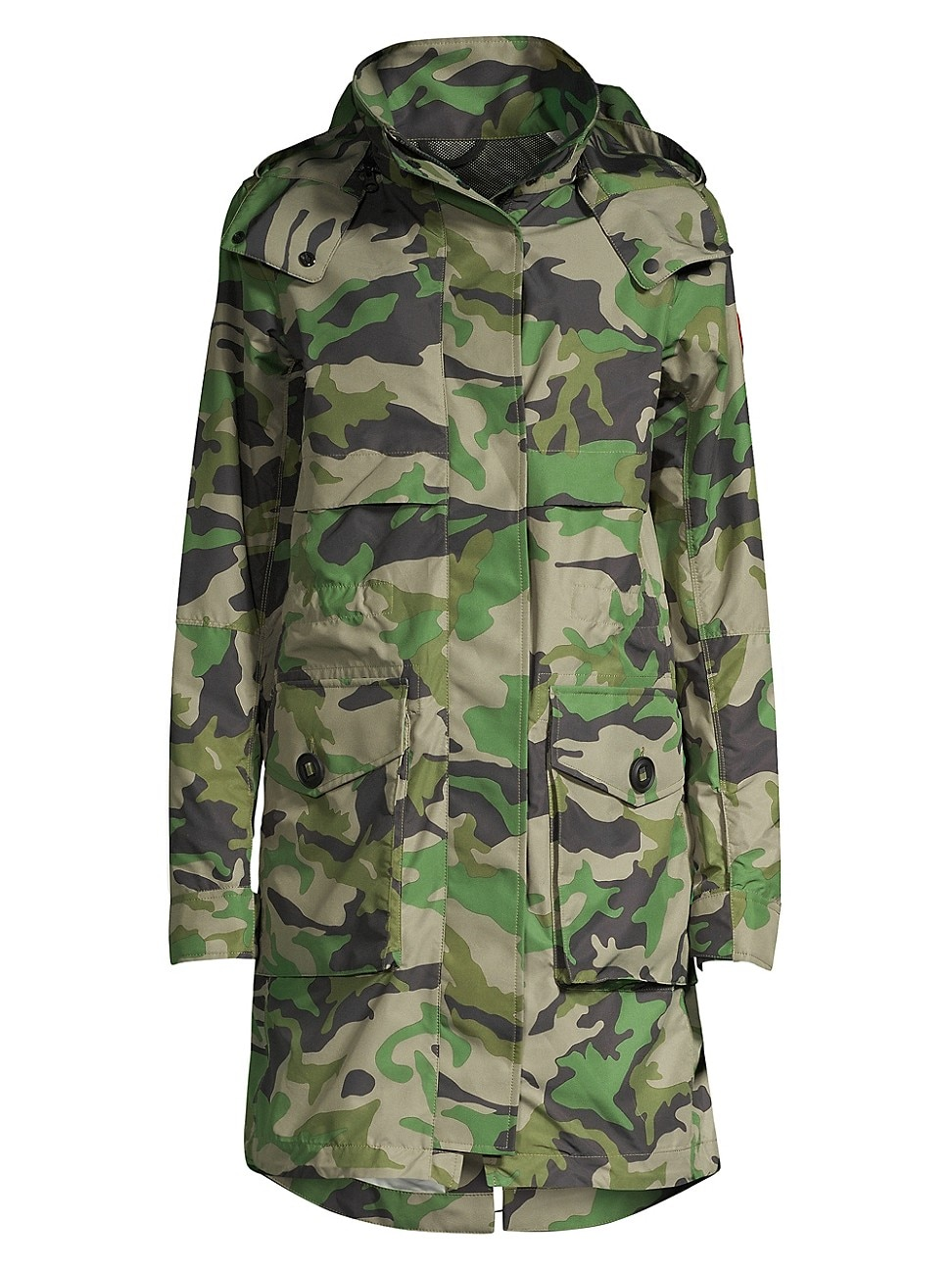 Canada Goose 'cavalry' Detachable Hood Camouflage Print Windproof Trench Coat In Cavalry Trench Camo Print