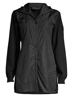 6597e47f88c Windbridge Hooded Merino Wool Jacket BLACK. QUICK VIEW. Product image
