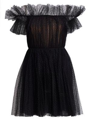 Giambattista Valli Dresses Off-The-Shoulder Tulle A-Line Dress