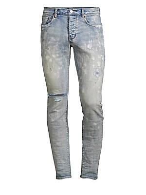 bb6259379fe28e Purple Brand - Stretch Splatter Slim-Fit Jeans - saks.com
