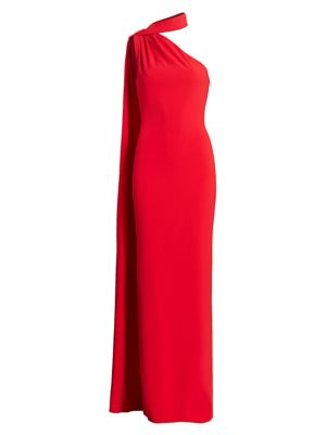 Brandon Maxwell Asymmetric Sash Gown