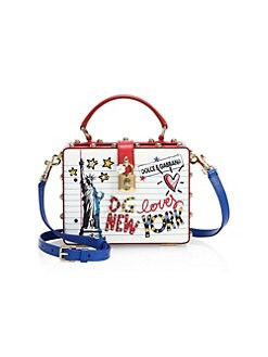 bf5aa023cc9a Product image. QUICK VIEW. Dolce   Gabbana. Statue of Liberty Graphic  Leather Crossbody Bag