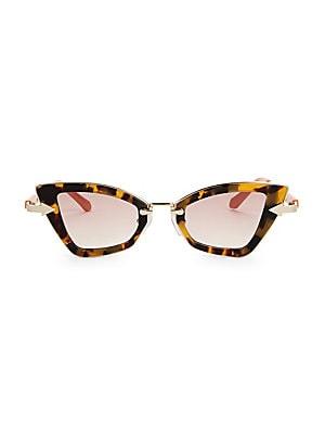 05087e134540 Karen Walker - Bad Apple 46MM Angular Cat Eye Sunglasses - saks.com