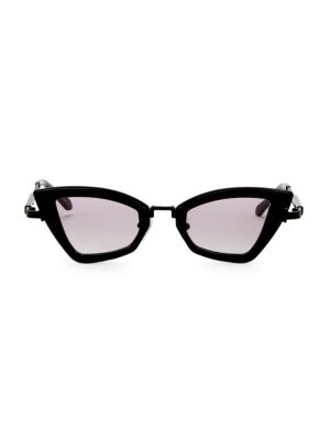 Karen Walker Bad Apple 46mm Triangular Cat Eye Sunglasses