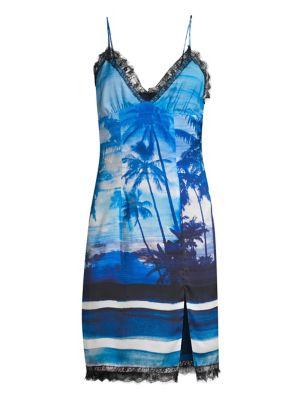 74c889c4b167 Stella McCartney - Lingerie Asymmetric Velvet & Lace Slip Dress ...