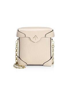 cd28cff27131 Manu Atelier. Mini Pristine Leather Chain Strap Crossbody Bag