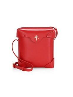 Manu Atelier. Mini Pristine Leather Crossbody Bag bca5c83c1ed8