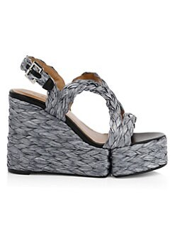 1f24ba737bfc Ally Raffia Platform Wedge Sandals SILVER. QUICK VIEW. Product image. QUICK  VIEW. Clergerie