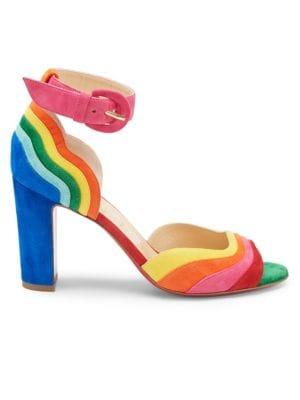1983a8ca772 Degratissimo Rainbow Suede Sandals
