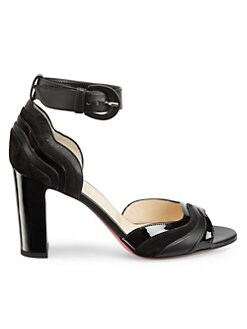 ed48c784a01 Product image. QUICK VIEW. Christian Louboutin. Degratissimo 85 Patent  Leather Slingback Sandals