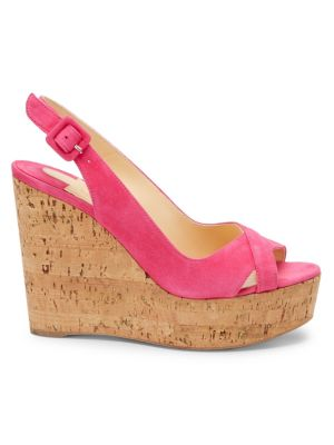 09640137139 Chloé - Lauren Leather Espadrille Platform Wedge Sandals - saks.com